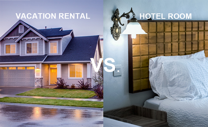 Vacation rental vs hotel room