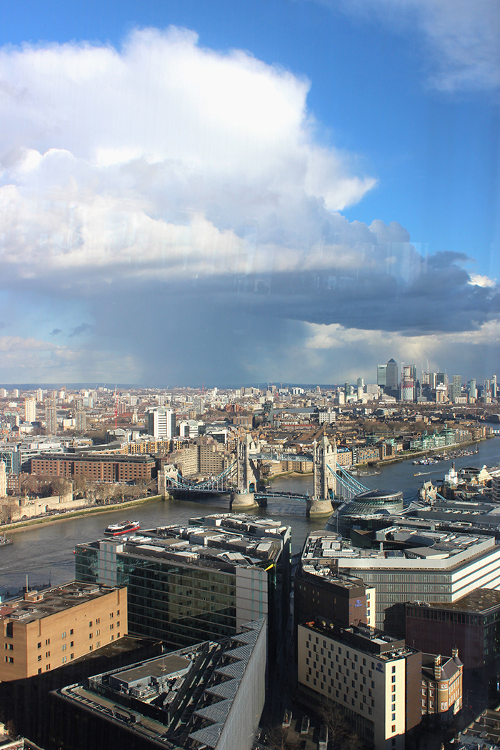 London view from above from Aqua Shard restaurant
