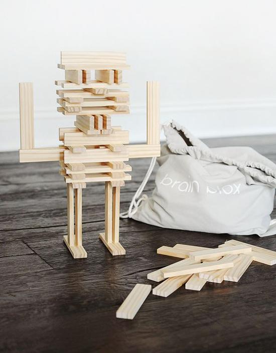 Wooden robot made by wooden sticks