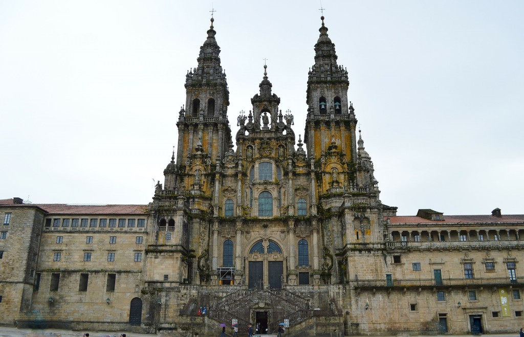 View on the cathedral of Santiago de Compostela