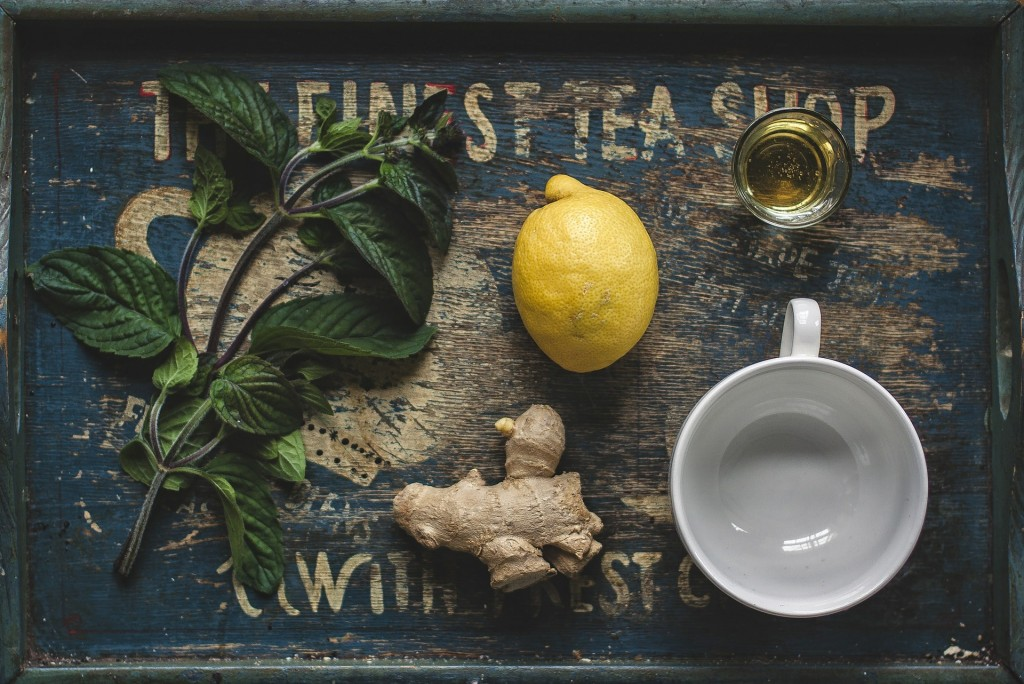 Green tea, ginger and lemon