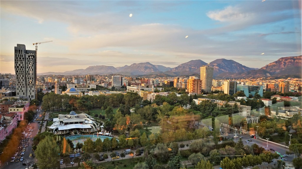 Tirana from above and its nice nature and buildings