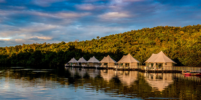 Tented villas in Cambodia with a calm view