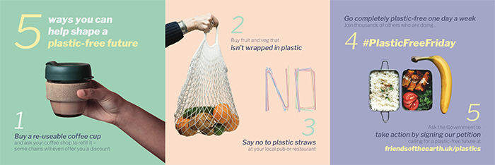 Images showing Plastic Free Day logos
