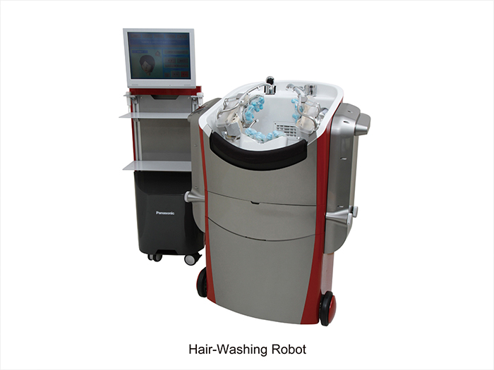 Hair-washing robot