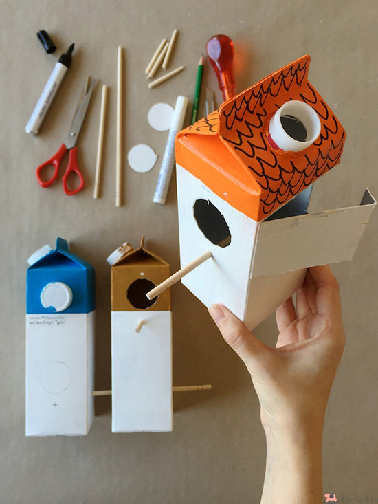 How to make a bird house of recycled plastic bottle