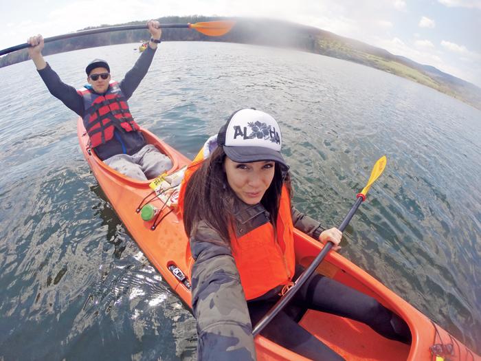 Couple kayaking in Bulgaria