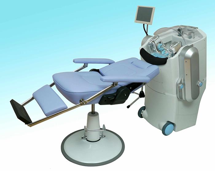 Hair washing and massage robot