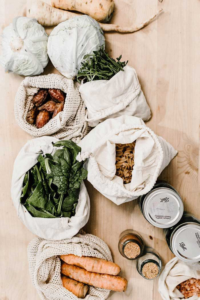 Plastic free grocery bags