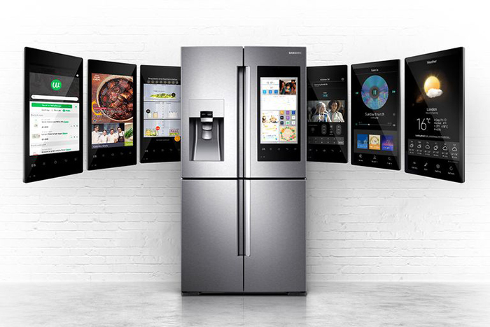 Smart fridge able to order food from any places