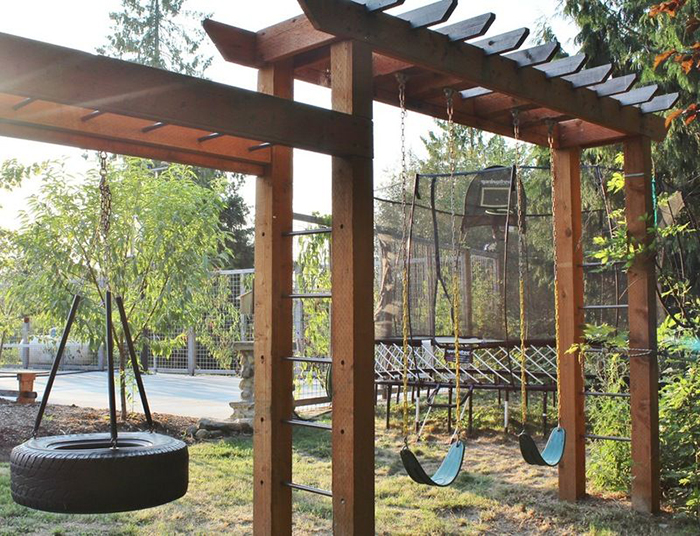Outdoor swing sets for children