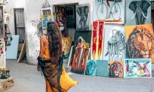 Girl in Prison Town in Zanzibar