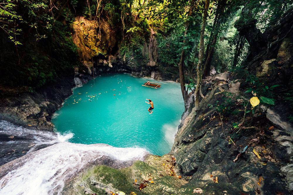 Secret waterfall in The Philippines