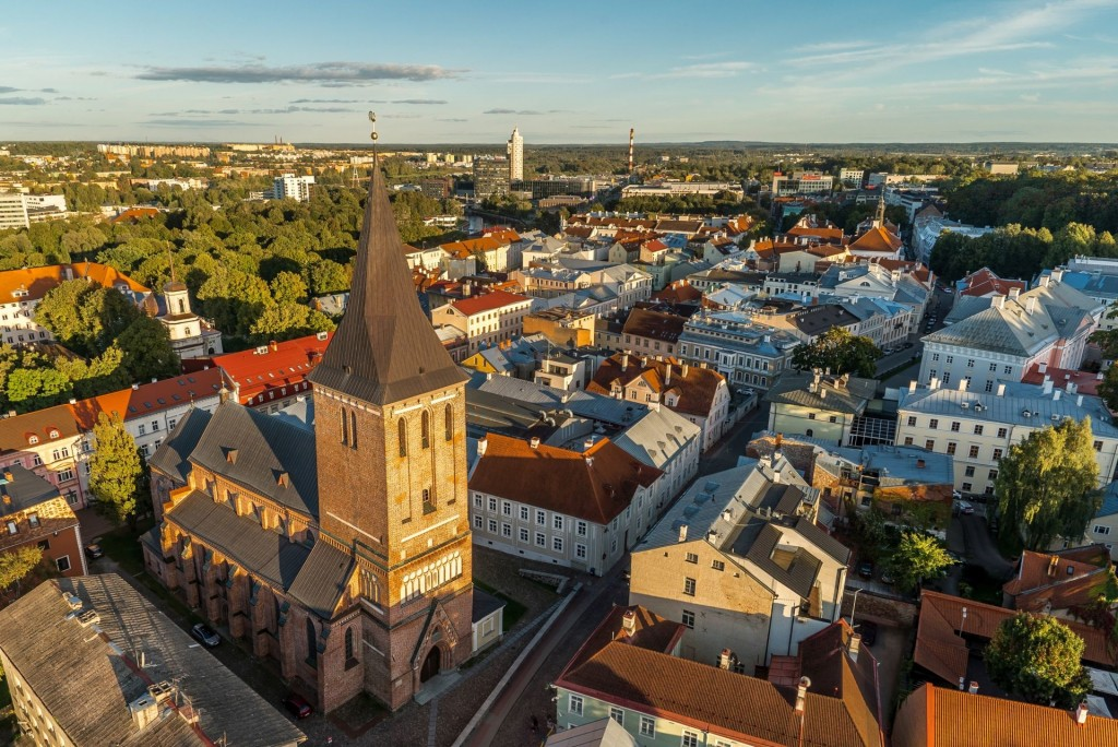Medieval buildings in Tartu