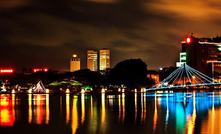 The capital of Sri Lanka during night