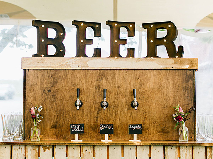 Wooden beer bar