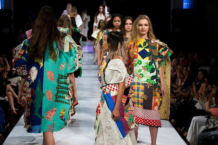 Eco fashion week in Australia Models showing ethical models on stage