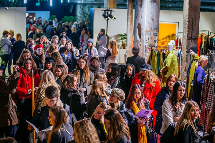 Many people gathered in bazar for Ethical fashion