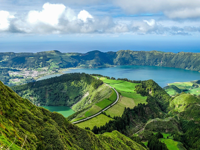Breathtaking landscape of the Azores