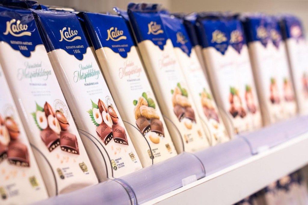 Different flavors of Kalev chocolate