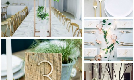 Minimalistic table centerpieces for wedding
