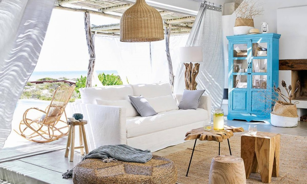 Beach home with coastal decor