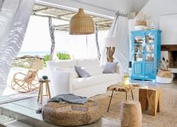 Beach home with coastal decor