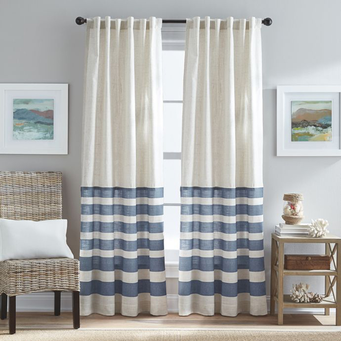 Sheer curtains in a coastal house