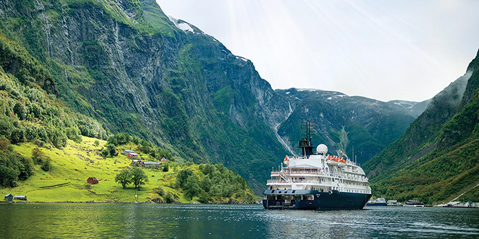 Cruise ship around Norway