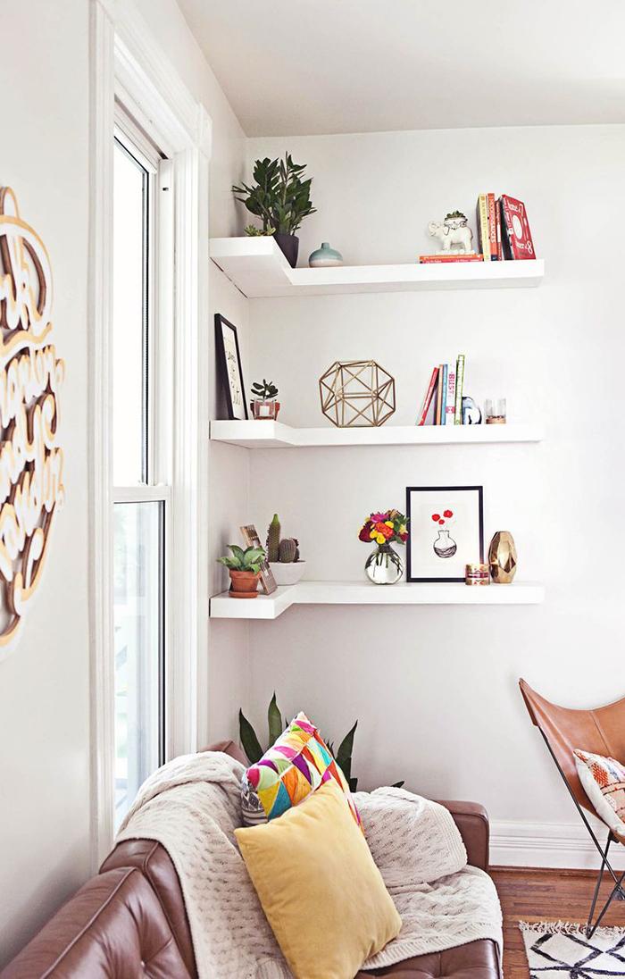 Corner shelf for your living room