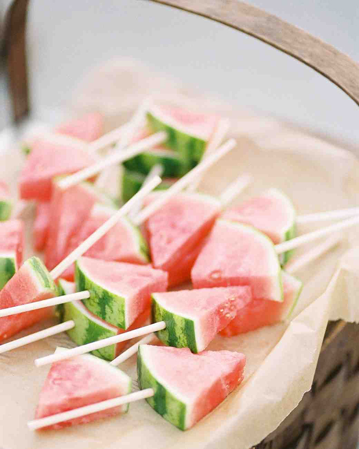 Melon on sticks