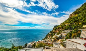 Coastal view of Amalfi in Italy