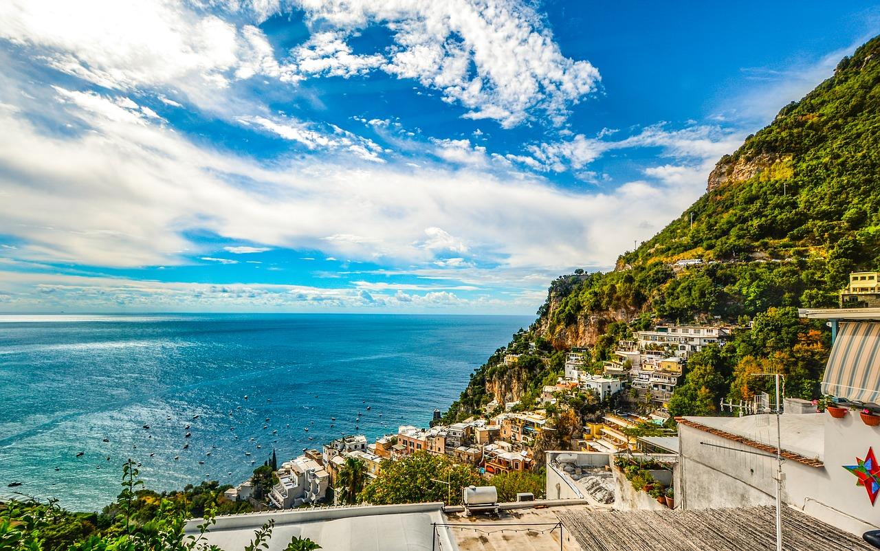 Coastal view of Amalfi in Italy