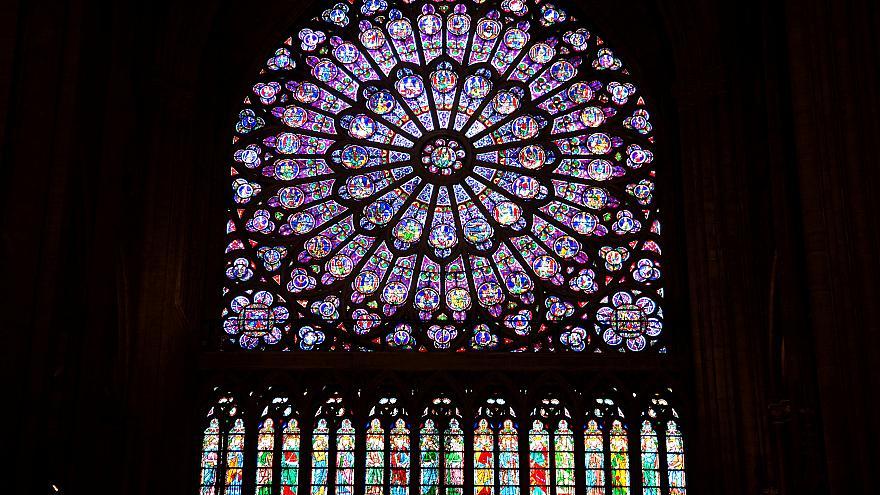 Rose windows in Notre Dame