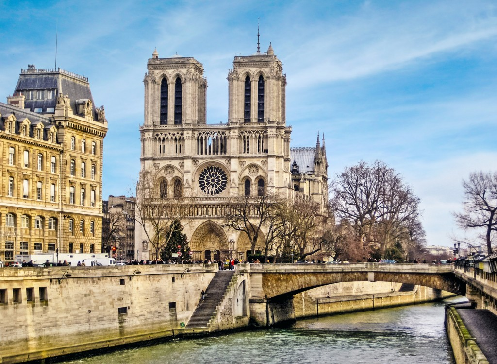 Cathedral of Notre Dame with the river in front