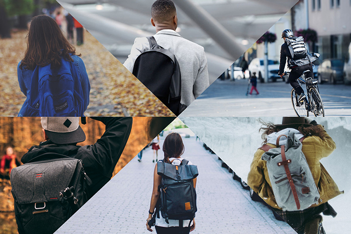 Different unisex city backpacks