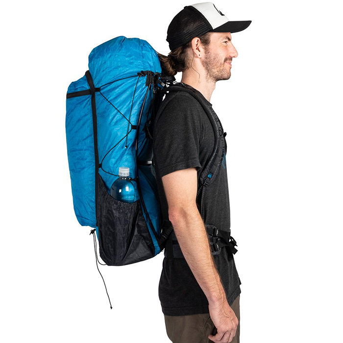 Man with a hiking backpack