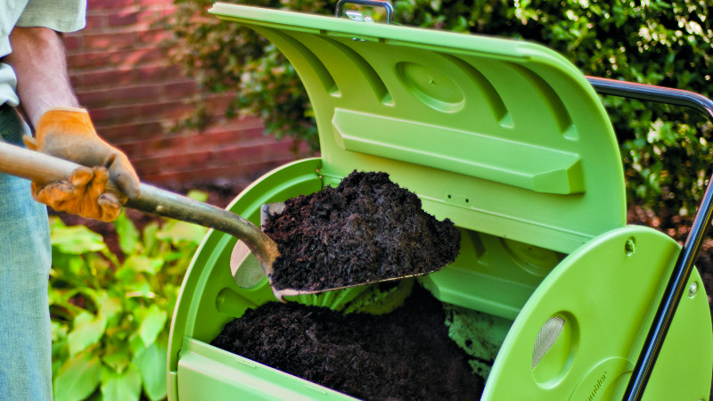 Person composting