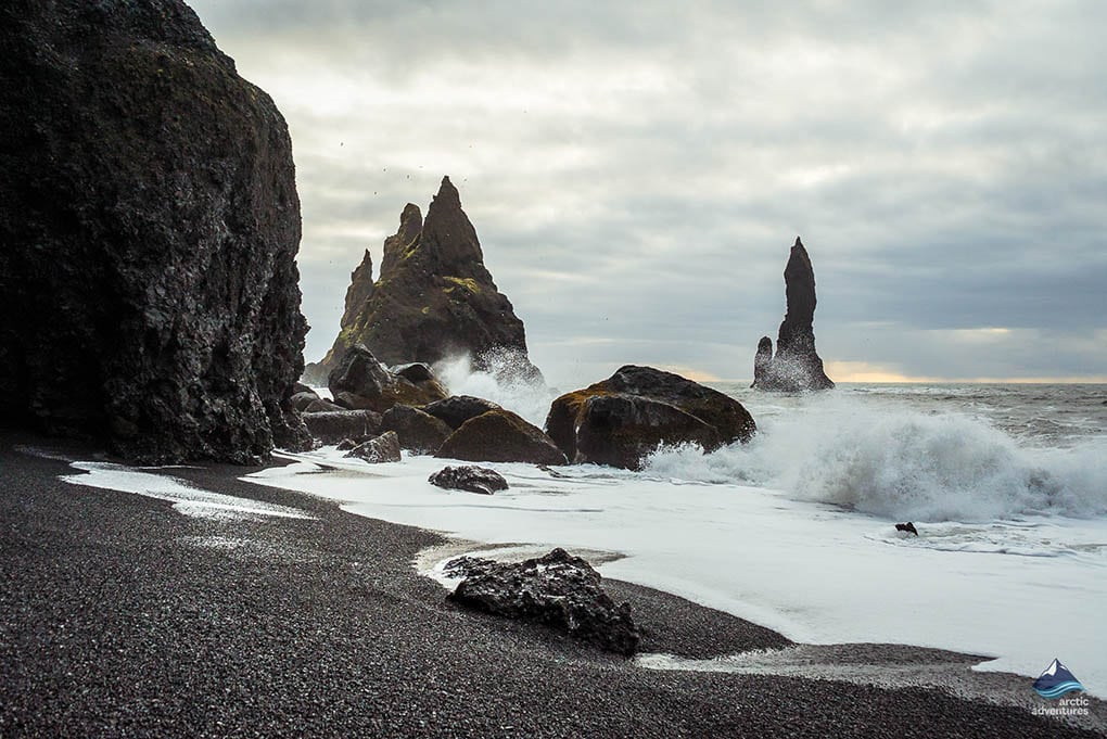 Waves at Reynisfjara beach
