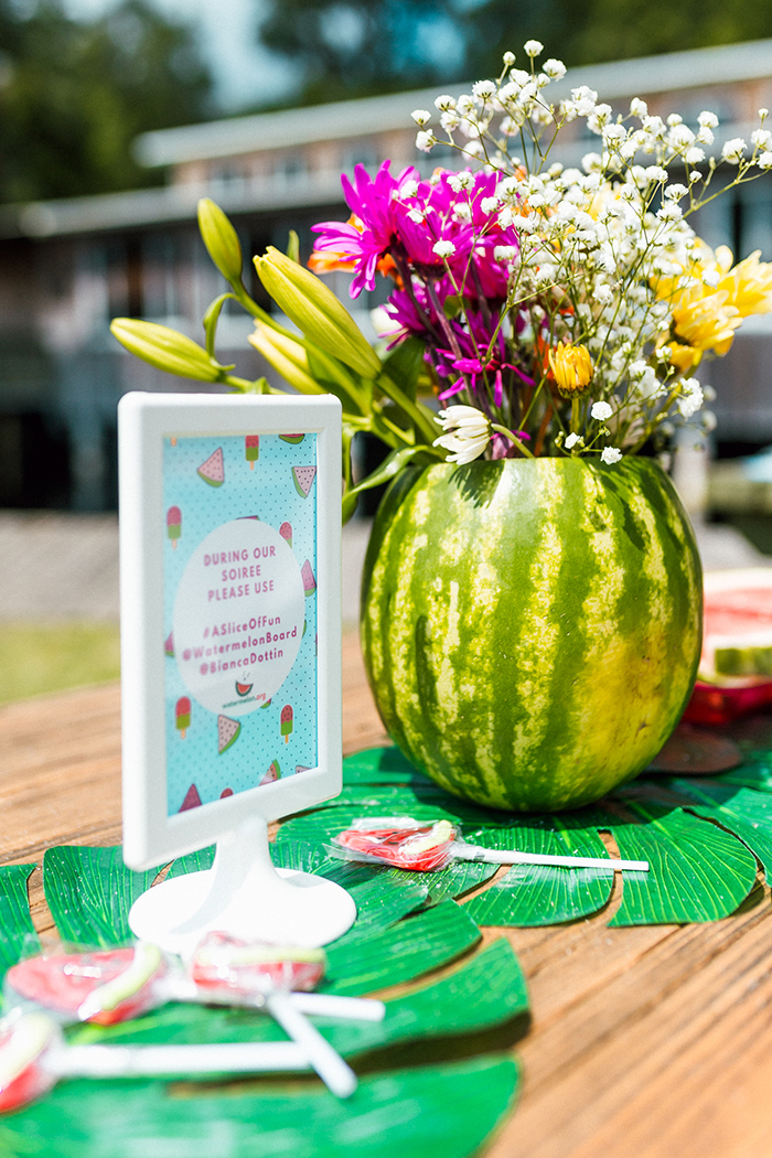 Watermelons instead of flower vase