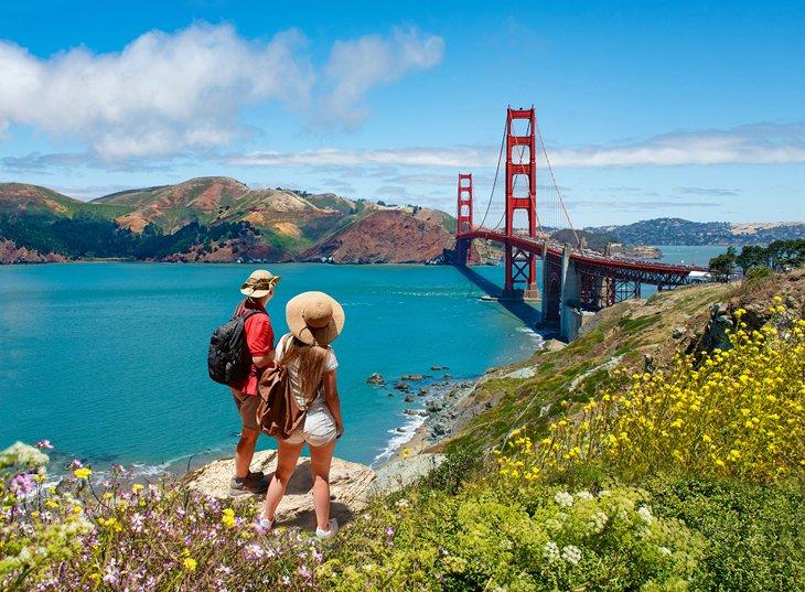 Couple exploring San Francisco