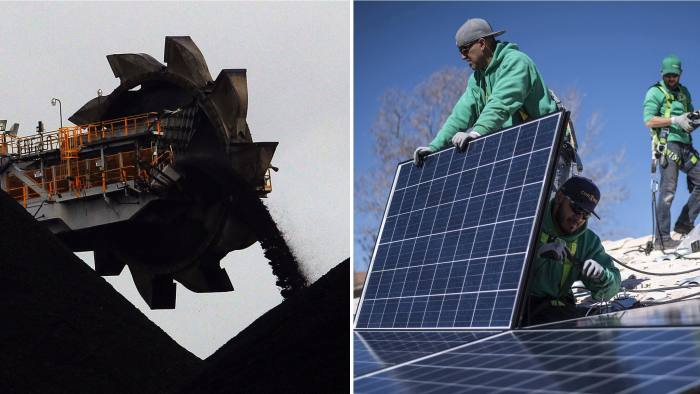 coal vs solar panels