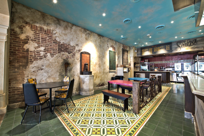 part of restaurant interior