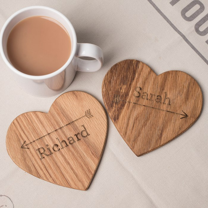 coffee cup with personalized place mats