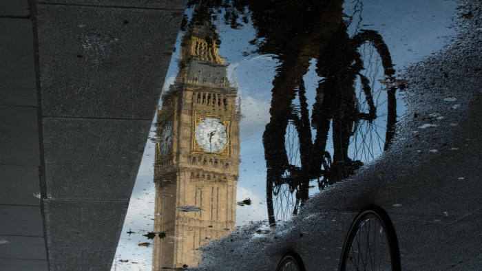 big ben reflection in water