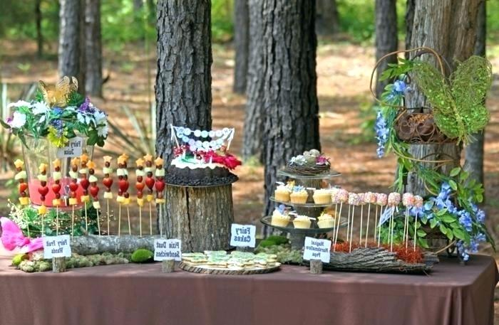 forest themed party buffet