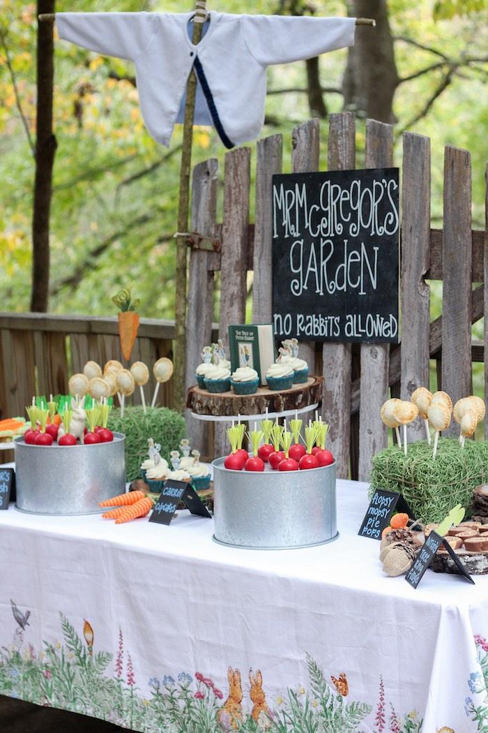 birthday party garden buffet