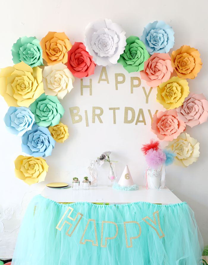 birthday party decoration paper roses