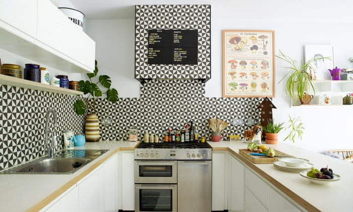 kitchen interior with prints