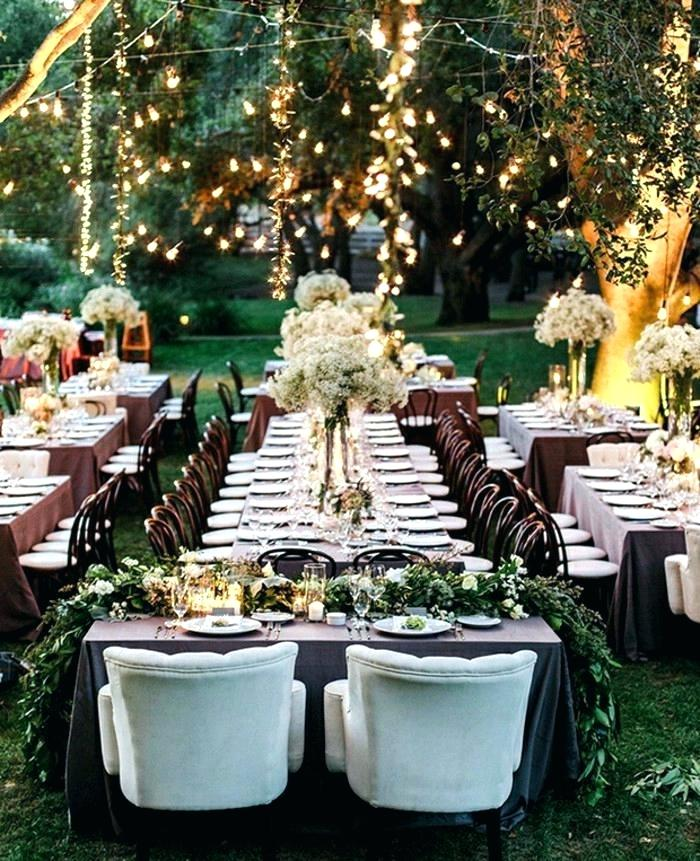 wedding table outdoors